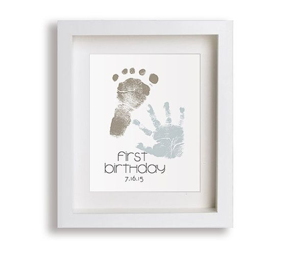 Custom Hand and Foot Art Print - First Birthday (please read how it works below before ordering)  Celebrate your little ones special day with a
