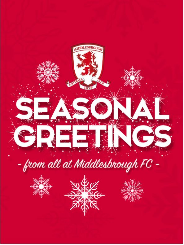 Middlesbrough FC Christmas greetings to supporters