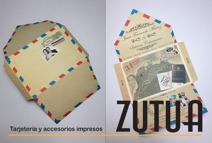 Tzutuha,Tarjetería y accesorios exclusivos para eventos sociales ..:  * BODA * Sobre postal