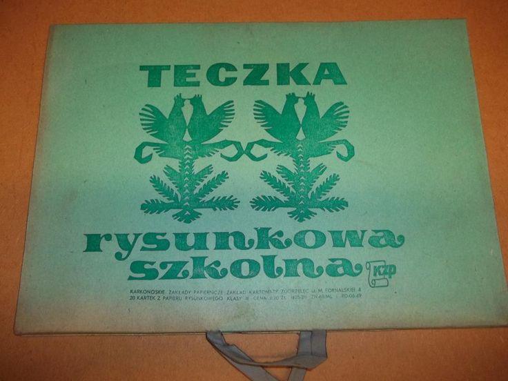 Teczka Rysunkowa Szkolna - PRL