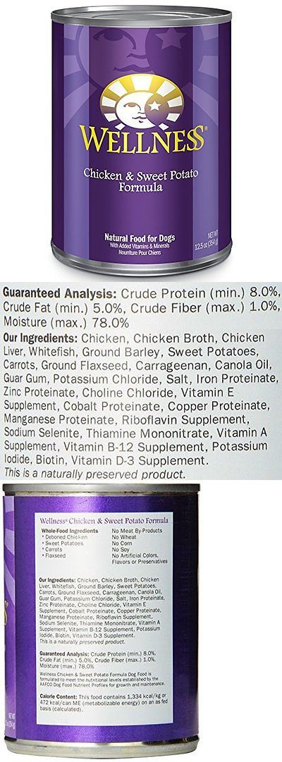 Dog Food 66780: Wellness Complete Health Natural Wet Canned Dog Food, Chicken And Sweet Potato, Of BUY IT NOW ONLY: $35.72