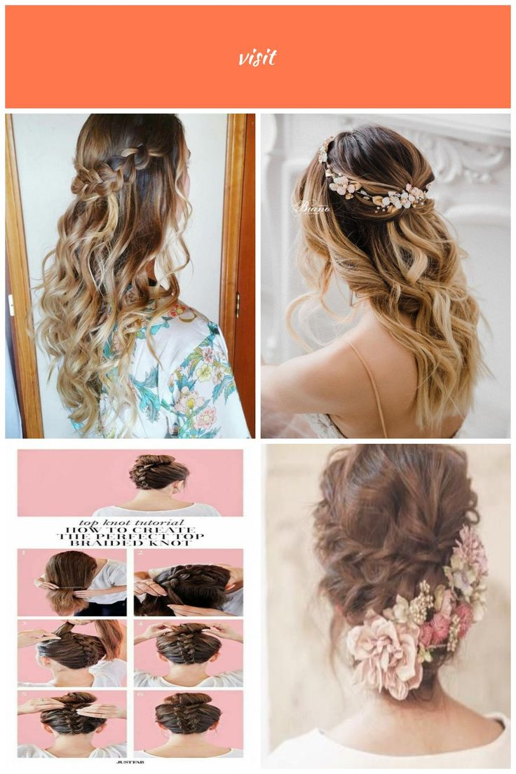 Boho Braided wedding hairstyles. Wavy curls. Braided half up half down hair. Bridesmaids hairstyle wavy wedding hairstyles