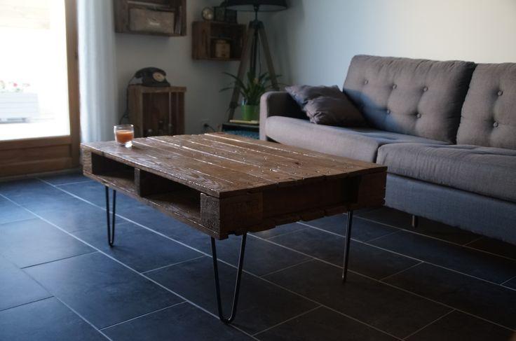 pied de table en pingle 71 cm brut hairpin legs fait main pi tement de table tables. Black Bedroom Furniture Sets. Home Design Ideas