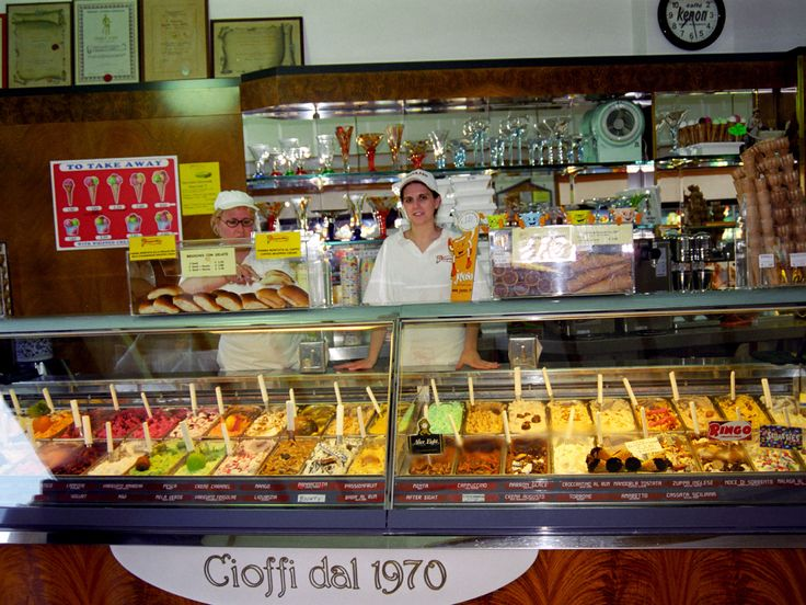 Many Flavors in a Gelato Store in Sorrento, Italy