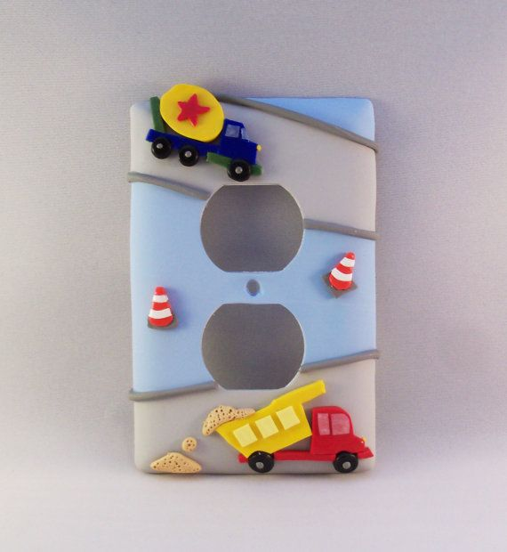 Construction Trucks Transportation Light Switch or by Thimbletowne, $22.00