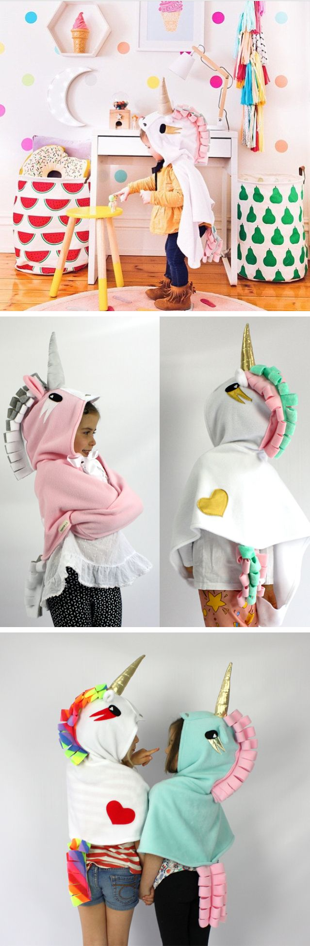 Unicorn Costume - Children's Handmade dress-up for imaginative play