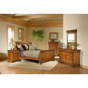 """""""Lafayette"""" Collection 6-piece Queen Bedroom Set    Includes headboard, footboard, dresser, mirror and nightstand.    Chest Sold Separately.    With its classic styling and rich oak finish, the Lafayette bedroom collection is sure to be a timeless, transitional addition to your bedroom spaces.    #Furniture #BedroomSet #BedroomFurniture"""
