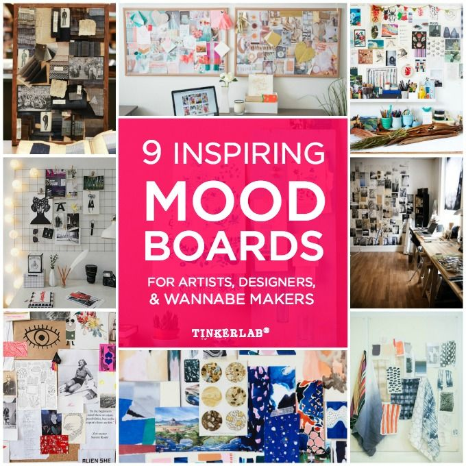 Inspiring Mood Board Examples for artists, designers, and wannabe makers.