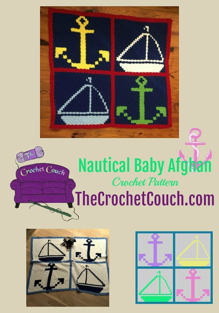 Nautical Baby Afghan, C2C Crochet Pattern | Crochet Graph