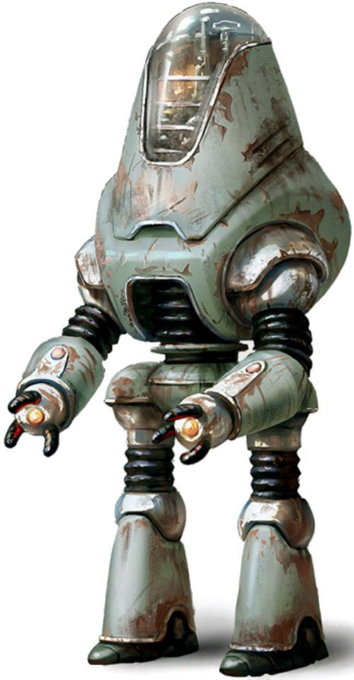 Concept art for a protectron robot in Fallout 4. From http://www.writeups.org/fallout-protectron-robots/