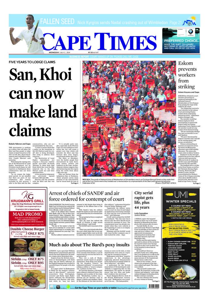 News making headlines: #Eskom prevents workers from striking