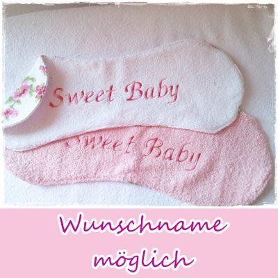 ...kann auch mit dem Namen des Baby`s oder ganz individuell bestickt werden....