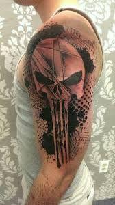 Resultado de imagen de stencil punisher @proulxjustice #tattoo #yourstory #bodyart