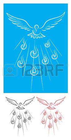 Paloma de boceto esp ritu Santo la imagen del arte del vector Foto de archivo