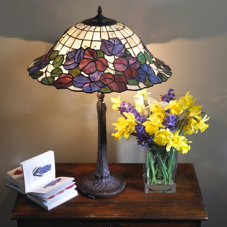 The Pansy Table Lamp. Vivid colours. We could probably source this again if asked but we sold it for about 5 years from 2005 to 2010 so we rested it.