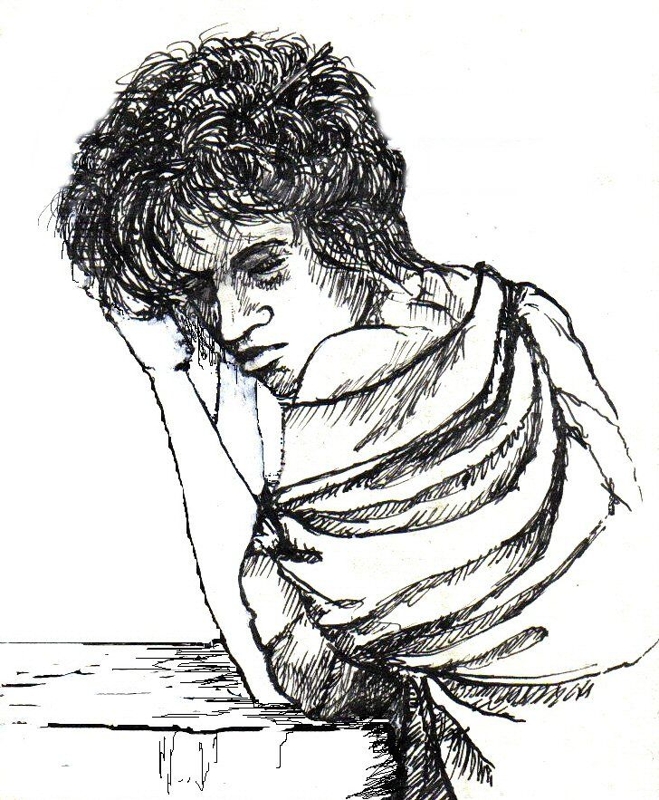 Pen and ink sketch 1985