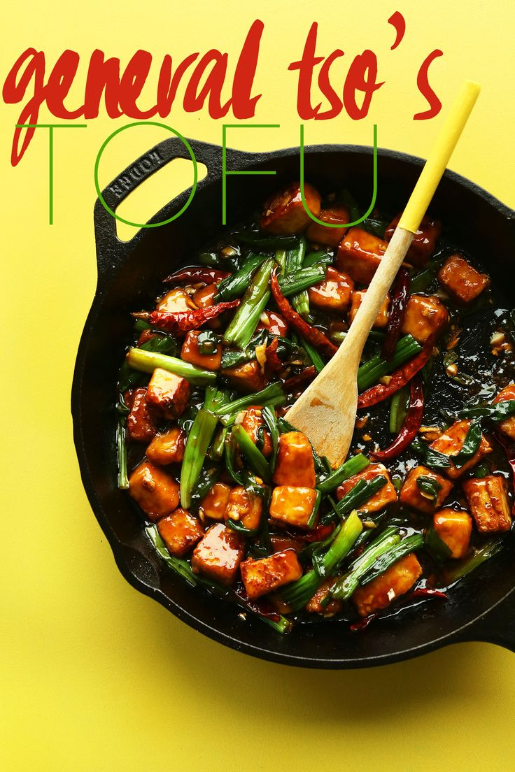 AMAZING General Tso's Tofu in 30 minutes! Spicy, sweet, protein rich! - Try with chicken