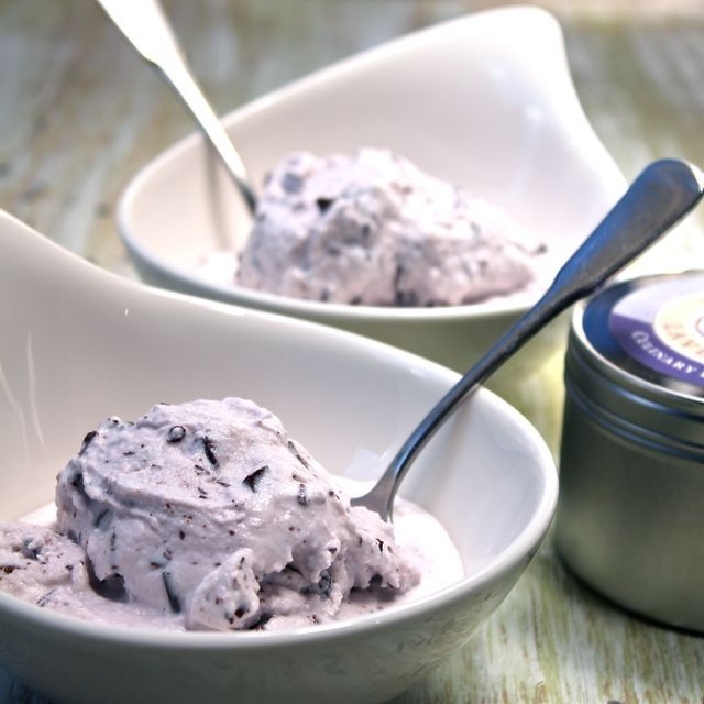 Dark chocolate chips, Chocolate chip ice cream and Lavender on ...