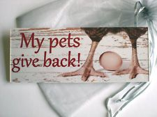 signs for the chicken coop   ... SALE SIGN Plaque chicken hen poultry egg carton boxes coop house run