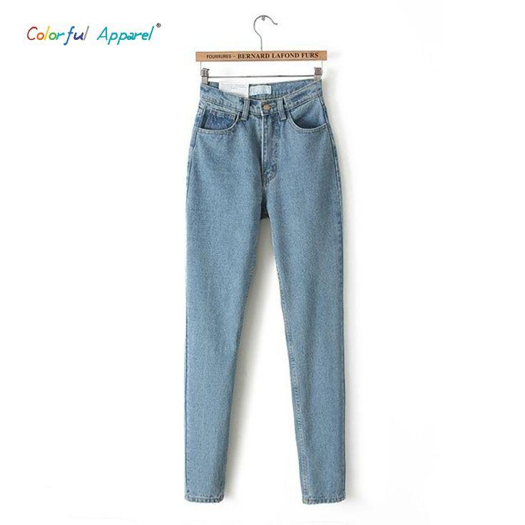[B 222] 2014 primavera new womens alta cowboy cowboy calças full length pants cowboy solta harem pants do vintage em Calças de brim de Das mulheres Roupas & Acessórios no AliExpress.com | Alibaba Group