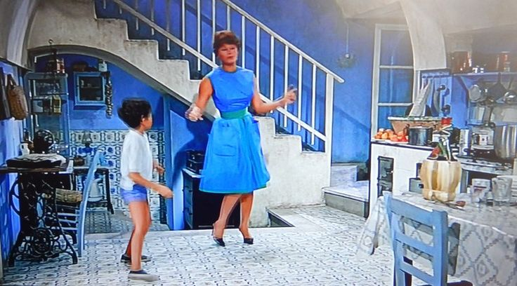 """It started in Naples"" but ended on Capri with Sophia Loren- passion pure in blue"