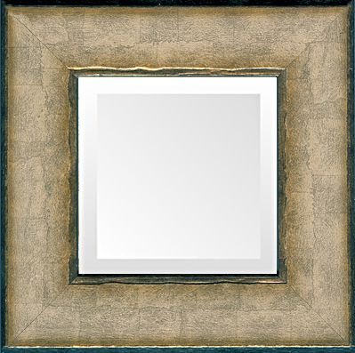 Italian Soft Silver Transitional Mirror — silver leaf wood frame with beveled mirror in many sizes and custom sizes. Made in USA by MUSEUM FACSIMILES