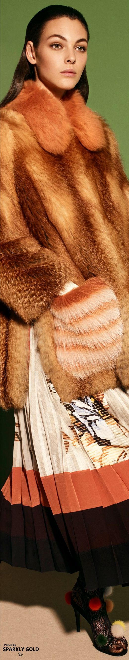 Fendi Pre-Fall 2017...Would looove it in Quality fake fur only , for me , and , I would surely loose the shoes .... :-)