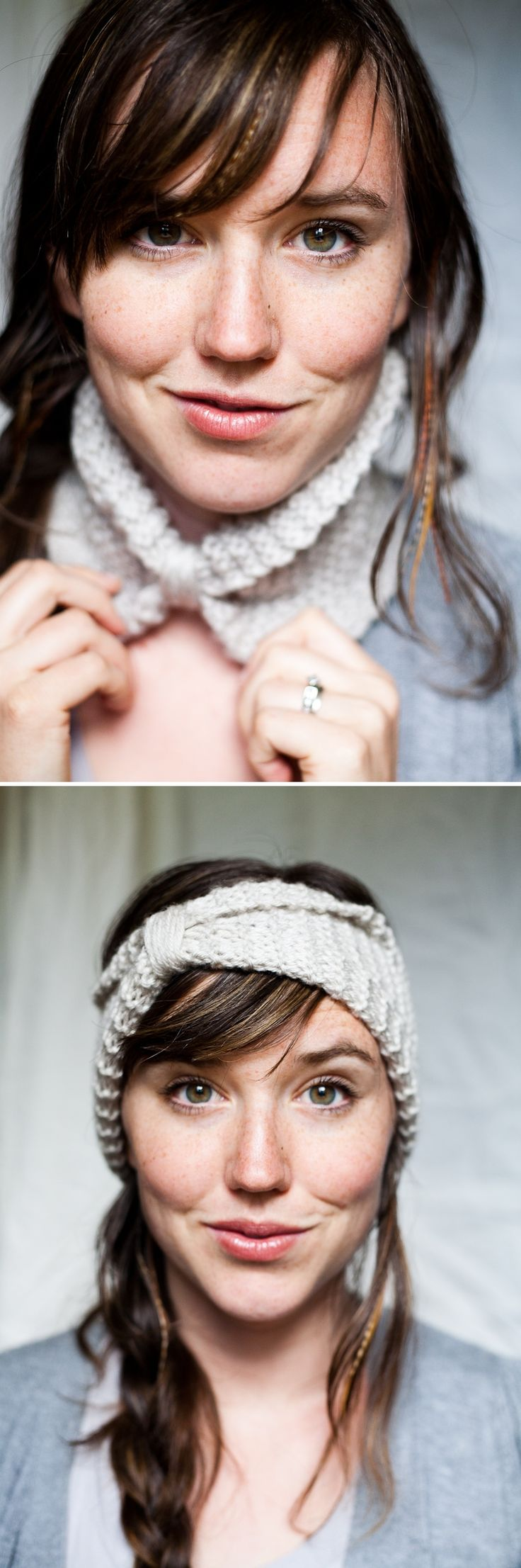 DIY: knitted cowl / headband. Yay, I have attempted this and will giving it away as a gift. Also made one for myself as I liked it so much, and it was easy to make, didn't take much time to do at all. 31.12.11