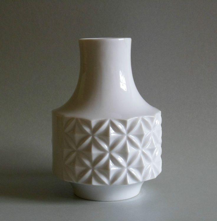 Winterling Porzellan Vase weiß, 13,5 cm
