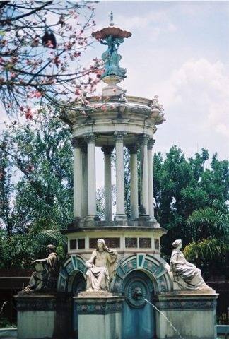 Lovely old fountain in the Pretoria Zoo, South Africa