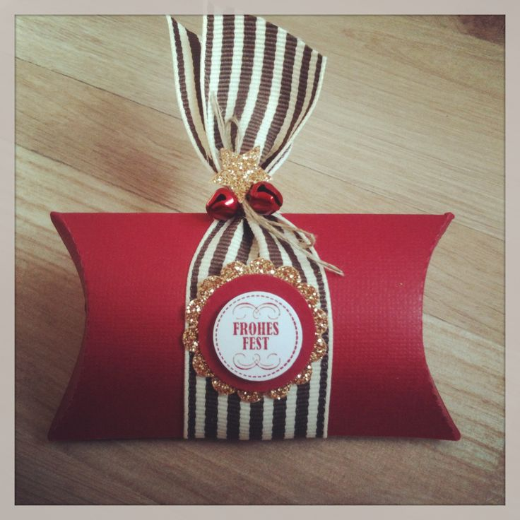 Weihnachtliche Pillowbox Stampin Up Christmas
