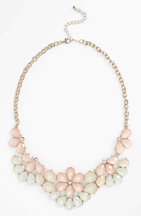 Pretty pastel statement necklace