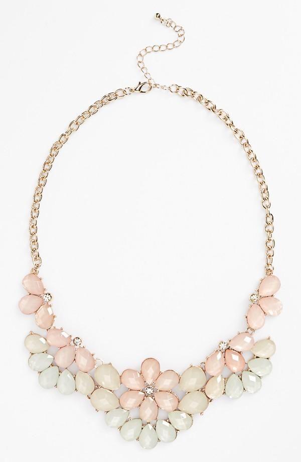 Pretty pastel statement necklace