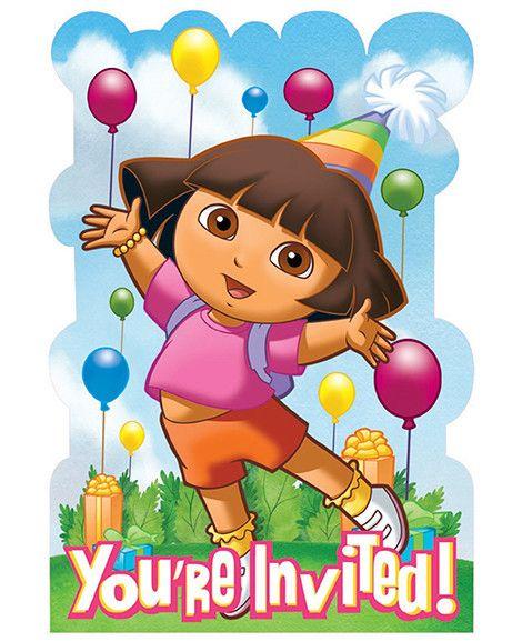 35 best Dora Party images – Dora Party Invites