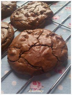 donabimby: Cookies brownie de chocolate