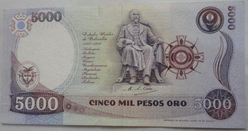 Billete De 5000 Pesos Año 1993
