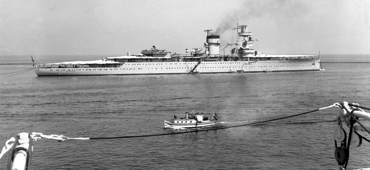 HNLMS De Ruyter of the Royal Netherlands Navy | De Ruyter was laid down on 16 September 1933 at the Wilton-Fijenoord dockyard in Schiedam and commissioned on 3 October 1936. She was sunk in the Battle of the Java Sea in 1942.