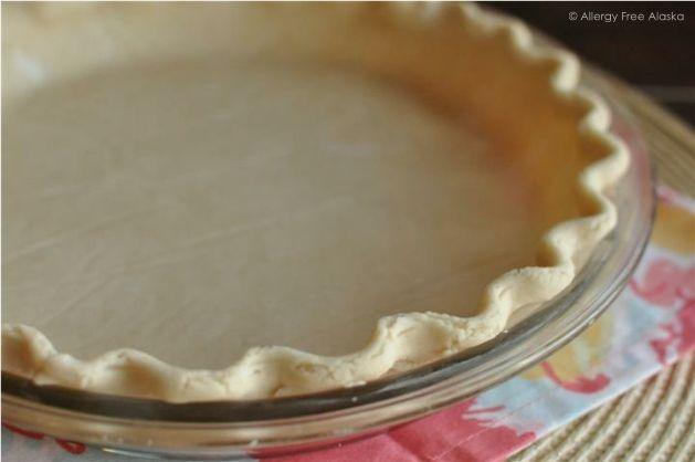 Best Gluten-Free Flaky Pie Crust Recipe #vegan #glutenfree