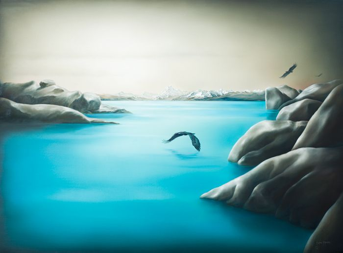 Hu-u, the sound of the wings | Sofia Minson Oil Painting | New Zealand Artwork