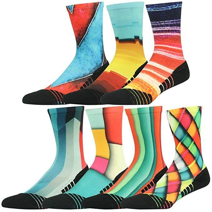 6 Pairs Ladies Fashion Socks Assorted Coloured Designer Everyday Womens 4-6