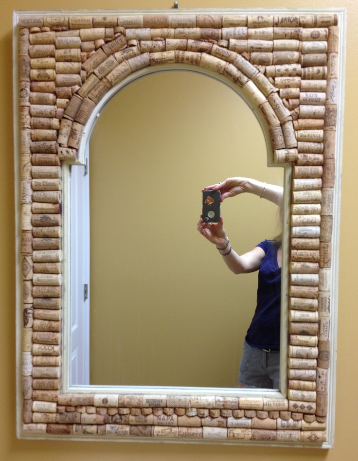 Wine Cork Framed Mirror Get Crafty Pinterest Framed