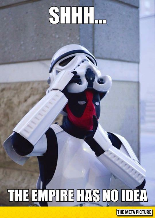 No One Expects Deadpool the Stormtrooper Star Wars