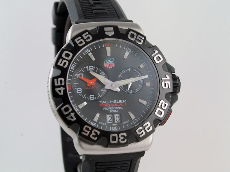 TAG Heuer Formula 1 Professional 200m Alarm WAH111A.BT0714 Steel Watch Excellent #TAGHeuer #Sport