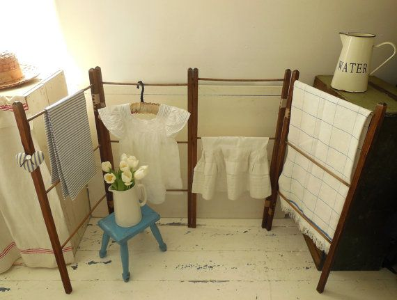 Vintage washing airer clothes horse or towel rail by EmmaAtLHV