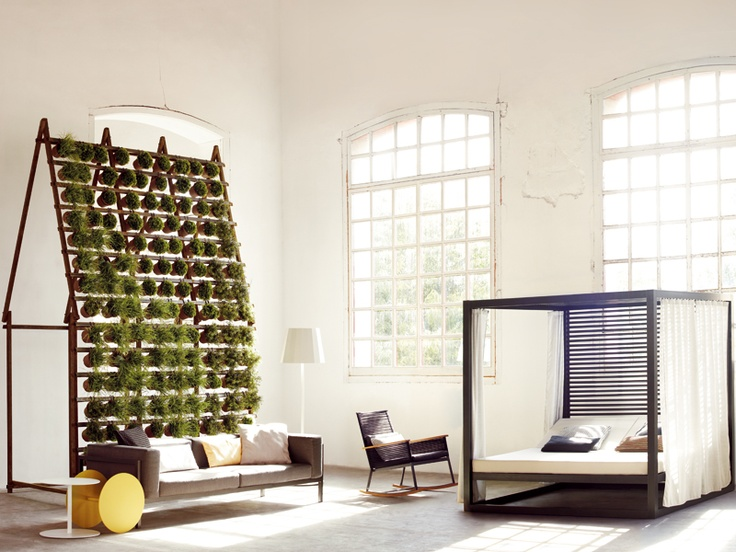 Double fabric bed landscape by kettal bed green bed rooms - Maison modulaire espagnole ...