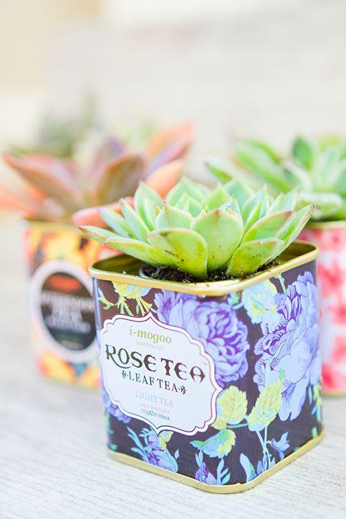 10 projets DIY avec des succulentes   Crédit photo :   http://thesarahjohnson.com/2014/12/01/vintage-tea-tin-succulents/