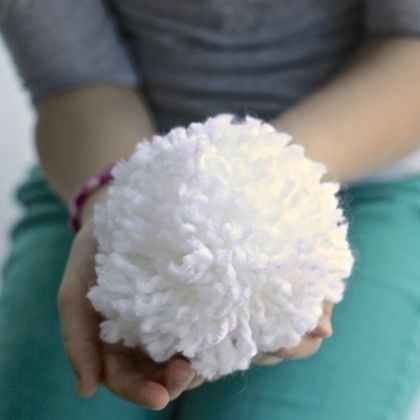 A Basket of Indoor Snowballs as a DIY gift for anyone experiencing a warm Christmas