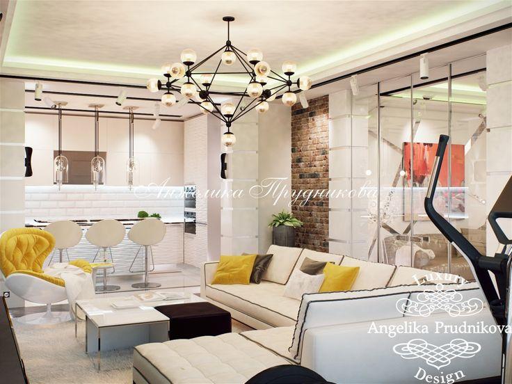 Дизайн интерьера квартиры в стиле лофт в ЖК Эмиральд - фото