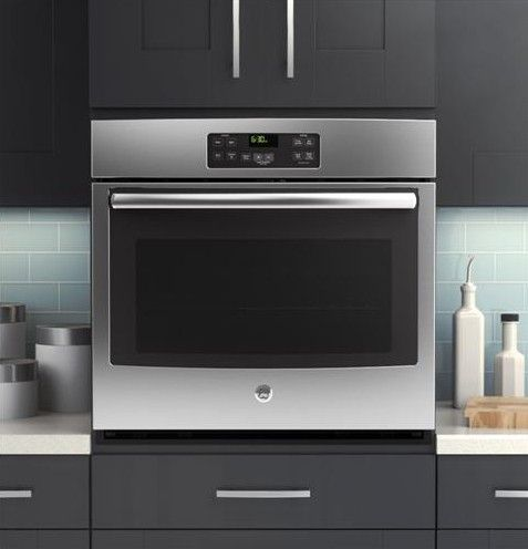 shop ge with steam single electric wall oven stainless steel common - Electric Wall Oven