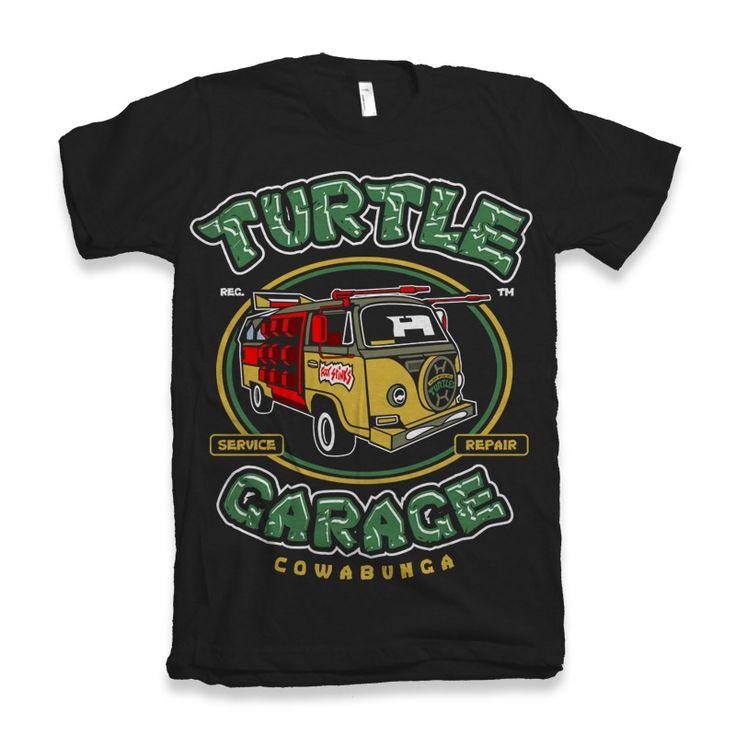 Turtle Garage T-shirt clip art
